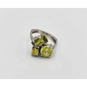 δαχτυλίδι ασήμι 925 μονόπετρο ρόδιο λευκά ζιργκόν 21