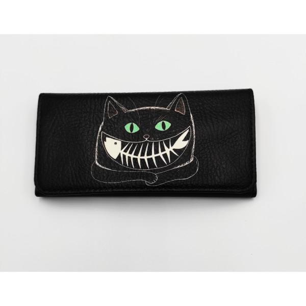 Θήκη καπνού δερματίνη μαύρος γάτος