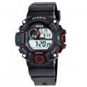 ρολόι jaga παιδικό ψηφιακό μαύρο με κόκκινο 8