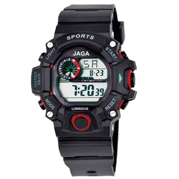 Ρολόι JAGA παιδικό ψηφιακό μαύρο με κόκκινο