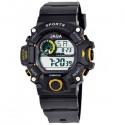 ρολόι jaga παιδικό ψηφιακό μαύρο με κίτρινο 8
